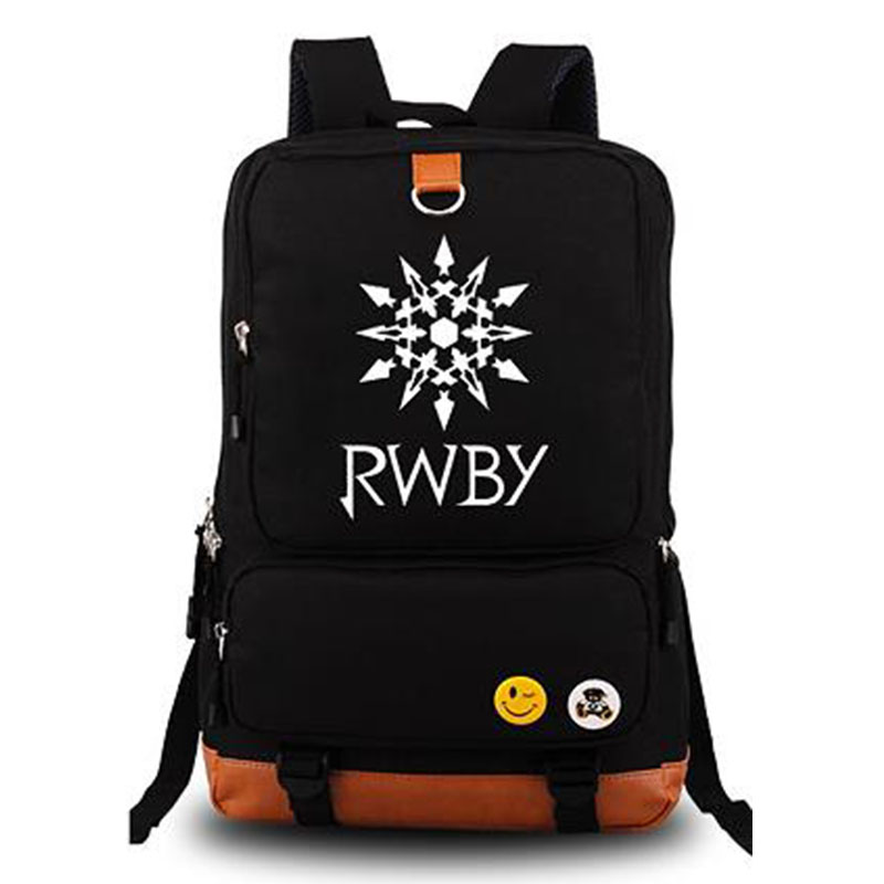RWBY Ruby Rose Bag Anime School Shouder Bags Canvas Backpack Unisex Travel Bags Backpacks for Laptop Computer 13 laptop backpack bag school travel national style waterproof canvas computer backpacks bags unique 13 15 women retro bags