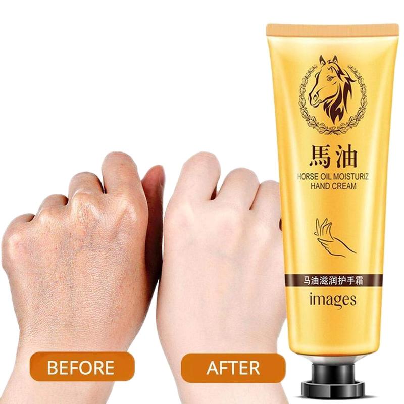 Horse Oil Repair Hand Cream Anti Chapping Moisturizing Anti-aging Whitening Hand Cream Skincare Nourishing Hand Crem 30g