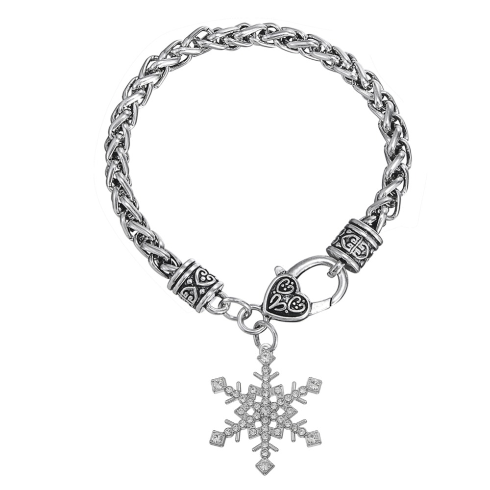 Teamer Brand Christmas Gift Clear Crystal Snowflake Bracelet For Friends In Charm Bracelets From Jewelry Accessories On Aliexpress Alibaba Group