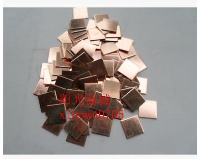 50PCS 20*20*1mm/20x20x1mm Copper Heatsink thermal Pad for Laptop GPU CPU Radiating Copper 5pcs lot pure copper broken groove memory mos radiator fin raspberry pi chip notebook radiator 14 14 4 0mm copper heatsink