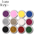12 Color Mix UV Gel Glitter Dust Powder Nail Art Glitter
