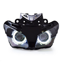 KT Headlight for Honda CBR500R 2013-2015 LED Angel Eye Motorcycle HID Projector Assembly 2014