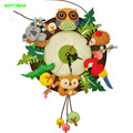HAPPYXUAN DIY Clock Forest Party Non-woven Handmade Cloth Material Package Over 14 years old for Children's Toys