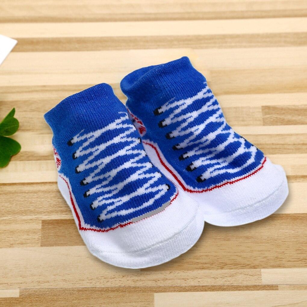 Cartoon Unisex Newborn Baby Socks Anti Slip Sole Socks For Girls/Boys Cotton Toddler Car ...