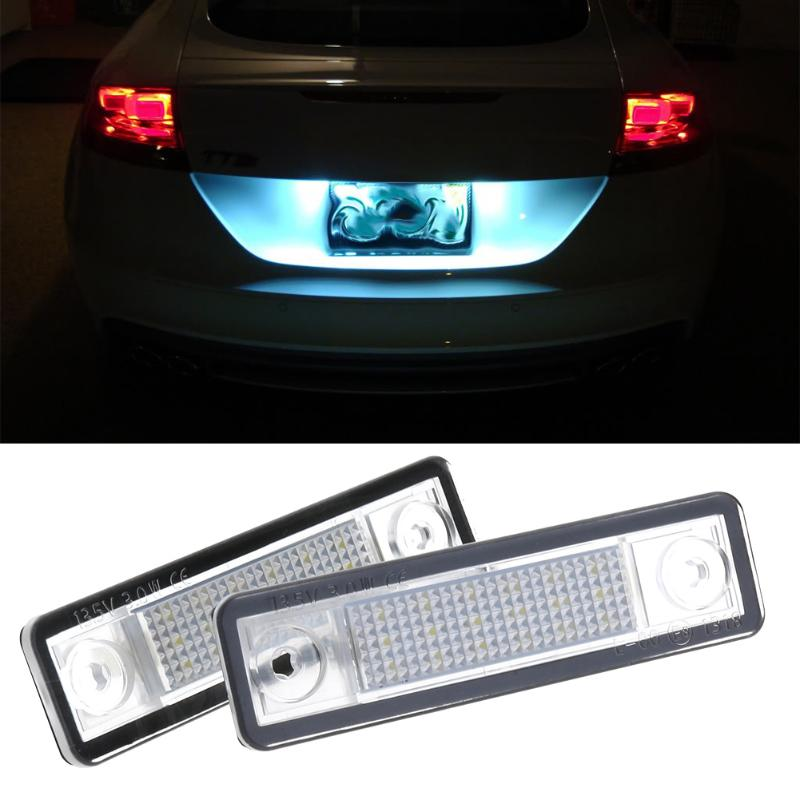 2pcs 3528SMD 18LED License Plate Light Lamps for Vauxhall OPEL Astra F/G Car Styling LED Strip Trunk Light Strips Light Assembly brand new car styling 18 smd led number license plate lights auto vehicles lamp for opel astra f 92 98 for calibra 89 97