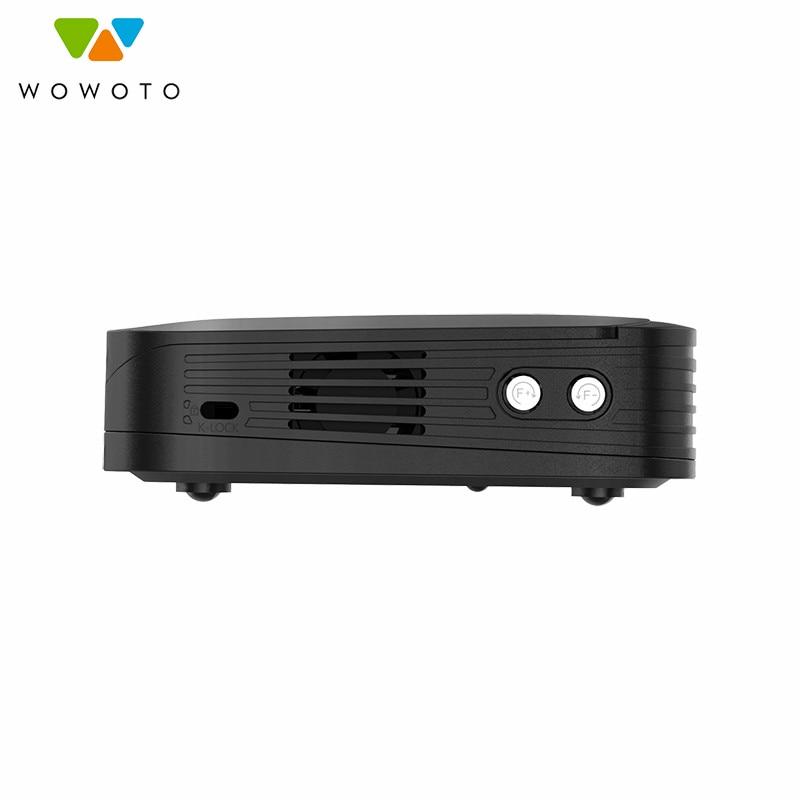 WOWOTO Projektor 4K Auflösung Voll Autom Wi-Fi Bluetooth 4000Lumen LED Tragbare HD Projektor Automatische Fokus Heimkino