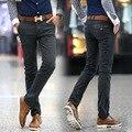 2016 Весенняя мода Slim Fit Случайные Прямые Мужские брюки новое Прибытие плюс размер белье брюки мужчины sliod белье мужской брюки
