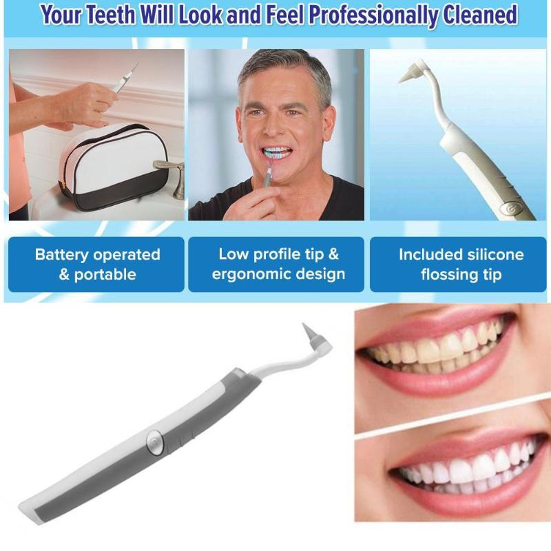 1pc Hot Electric Sonic Tooth Stain Eraser Tooth Gel Teeth Whitening Creative Effective Bleach Celebrity Perfect Smile Teeth Care(China)