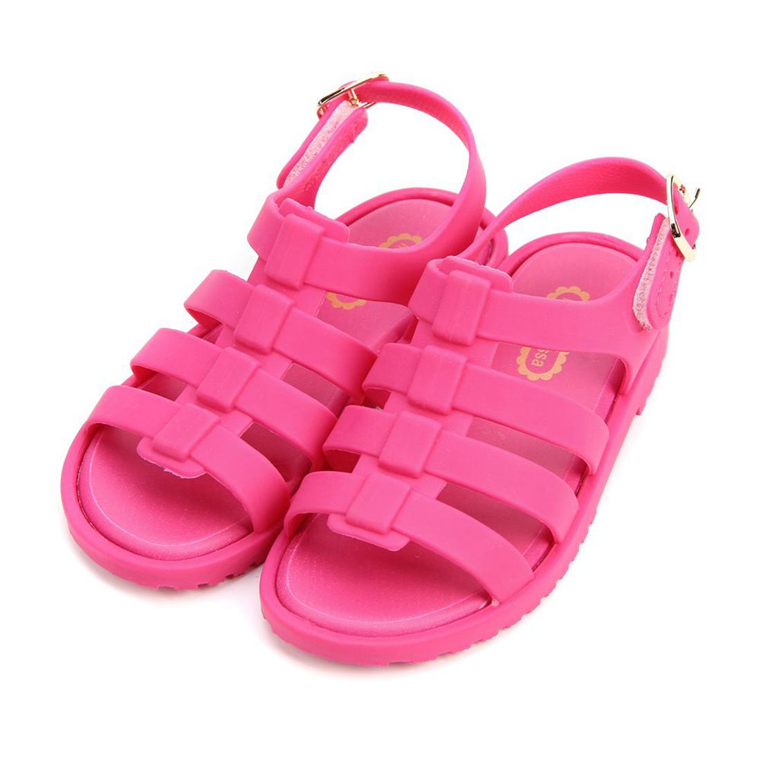 Melissa 2017 Summer New Roman Mini Shoes Girls Sandals Flox Kids Jelly Soft Insole PVC Shoe Flat-on Soft Bottom Non-Slip