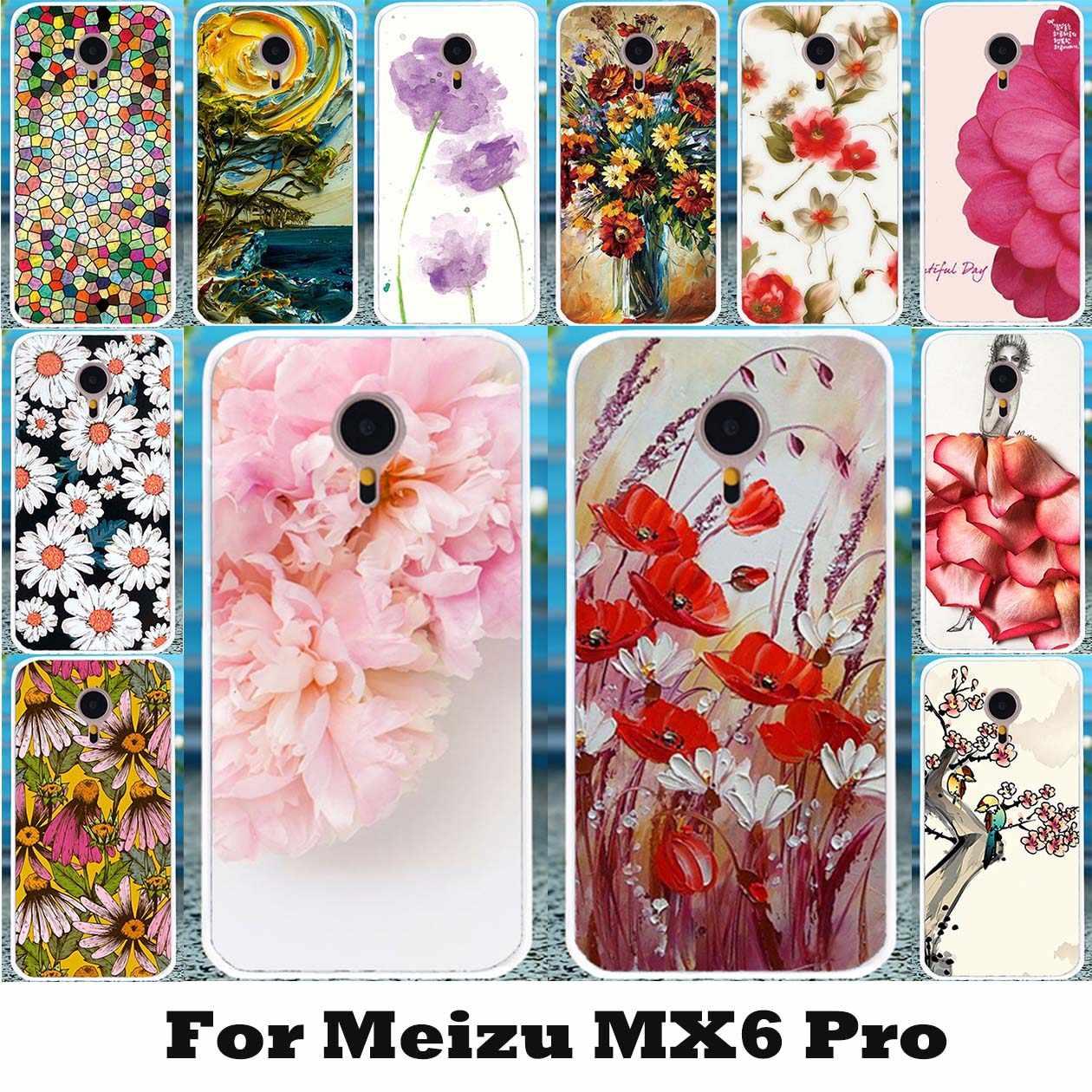 3D kwiaty do składania malowane etui na Meizu MX6 Pro Meizu Pro 6 Meizu Pro 6s Pro6s 5.2 cal okładka miękka twarda obudowa z powrotem torba Capinha
