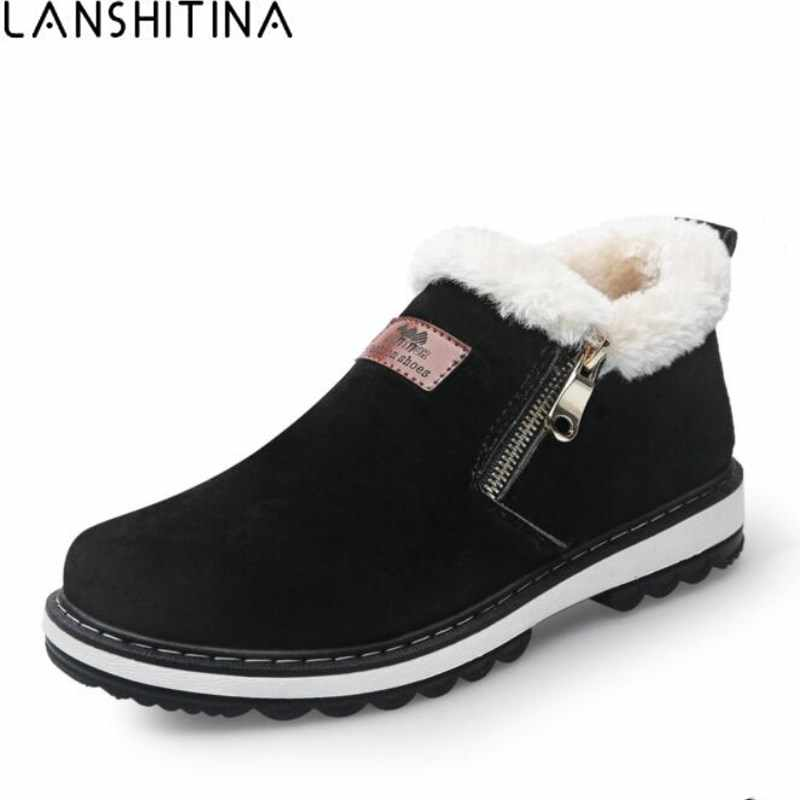2018 New Arrival Men Fashion Fur Winter Boots Wear Resistant Handmade Ankle Boots Keep Warm Working Boot Zipper Men Casual Shoes