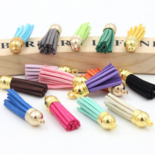 20Pcs/lot Suede Tassel Fringe DIY Clothing package Key Chain Bag Findings Pendants Crafts Handmade Jewelry Making Accessories