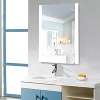 Wall mounted Led Bathroom Mirror Shower Anti fog Mirror Washroom Bath Mirror for Makeup White Color Adhesive France Stock HWC