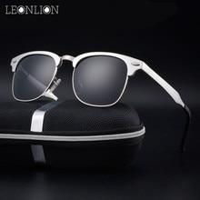 LeonLion 2018 100% Polarized Aluminum magnesium Sunglasses Men Top Brand Design Sun Glasses HD Classic Retro Outdoor Eyewear