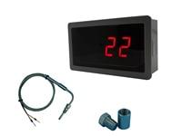 Red LED Gauge With EGT Temperature Sensors Weld Bund Combo Kit In Fahrenheit