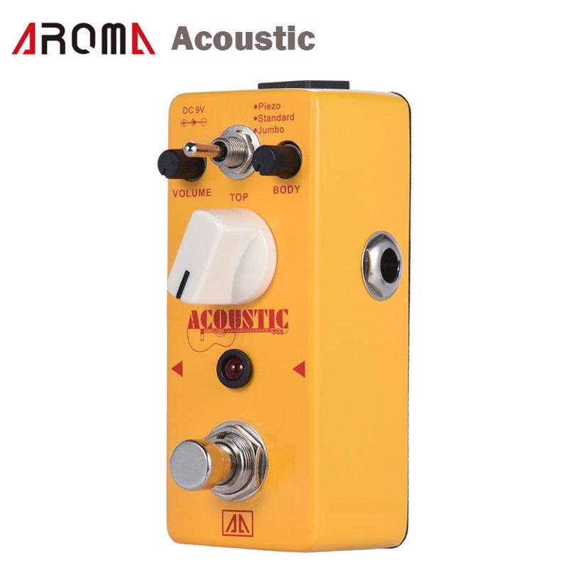 цена  AROMA AAS-5 Acoustic Guitar Simulator Effect Pedal 2 Modes Aluminum  Alloy Body True Bypass Guitar Parts & Accessories  онлайн в 2017 году