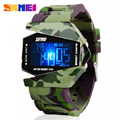 2016 SKMEI Aircraft Shape New Men Army Pilot Fighter Military Sports Watches Digital Led CLock Camouflage Rubber Silicone Jelly