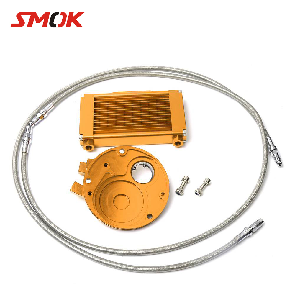 SMOK Scooter Accessories Oil Cooler Professional Kit & Oil Filter Adapter For Yamaha GTR 125 BWS X 125 CYGNUS 125 1998-2015SMOK Scooter Accessories Oil Cooler Professional Kit & Oil Filter Adapter For Yamaha GTR 125 BWS X 125 CYGNUS 125 1998-2015