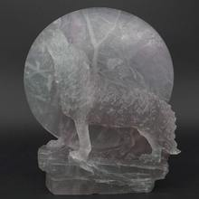 Wolf Statue Under The Moon Natural Gems Fluorite Carved Crystal Healig Decor 6 rowena akinyemi under the moon