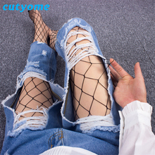 Cutyome Hot Women Fishnet Stockings Black Nylon Sexy Mesh Pantyhose In A Gird Female Professional Fishnet Tights * Club Hosiery