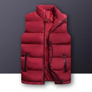 Image 3 - 2020 סתיו החורף מזדמן אפוד זכר באיכות גבוהה ללא שרוולים מעיל Mens בתוספת גודל חזייה חמה מוצק להאריך ימים יותר אפוד Veste Homme