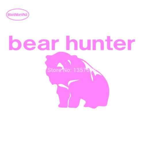 """HotMeiNi стикер для автомобиля с изображением медведя, охотника на грузовик, бампер для автомобиля, внедорожник для двери, ноутбука, каяк, Виниловая наклейка, водонепроницаемая, 13 цветов, 7*4"""""""