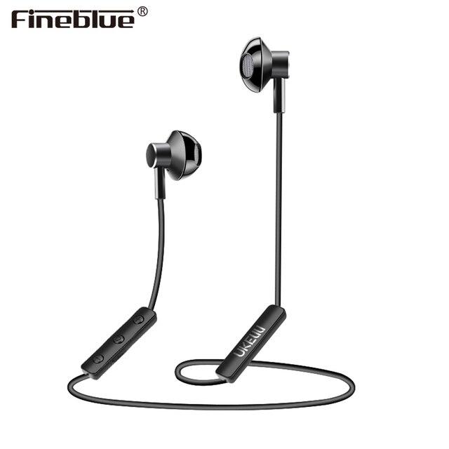 Fineblue UK-S1 Wireless Bluetooth V4.1 earphones Halter-neck magnetic ergonmic Design HD sound Sports Earbud Headset with mic