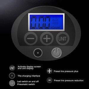 Image 4 - Fineed空気圧縮機ミニ電動エアーポンプ150 psi 12v電気自動車自転車パンプスタイヤ圧力ゲージledライト