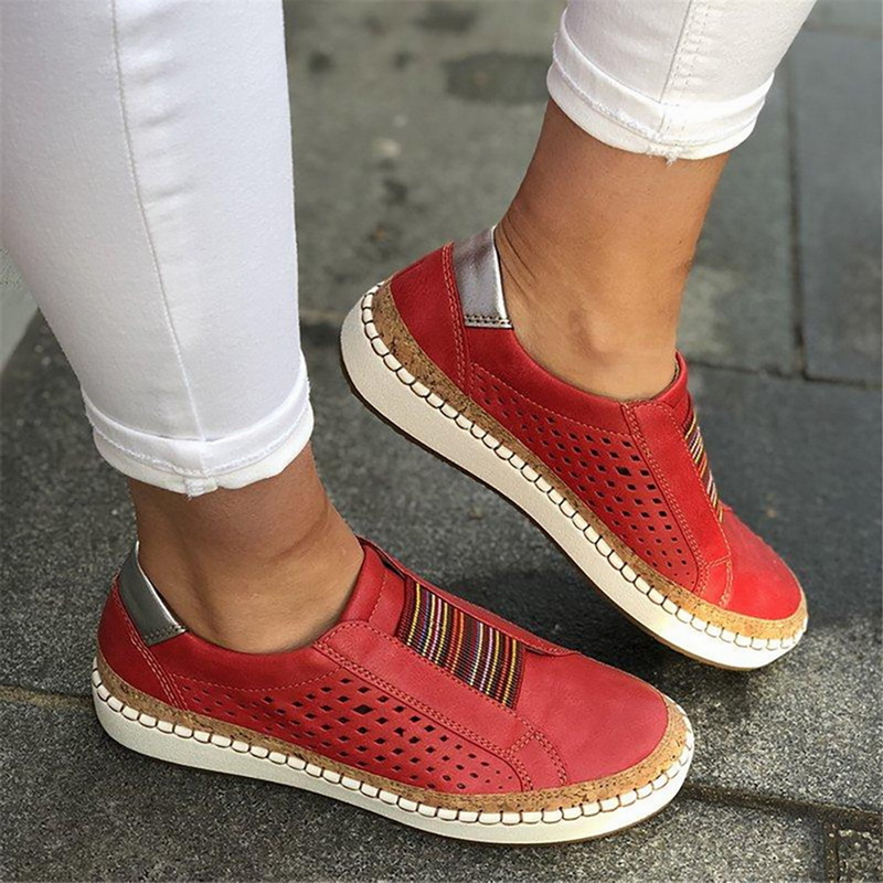 Adisputent Casual Hollow Out Vulcanized Sneakers Women  Slip On  Shallow Comfortable Loafers Shoes Female  Shoes