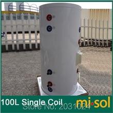 100 л Солнечный водонагреватель бак 220 В, с медной катушкой, с электрическим элементом, солнечный резервуар для воды