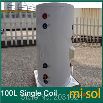 100 Liter Solar Water Heater Tank 220V , with copper coil, with electrical element, solar water tank 100 liter solar water heater tank 220v with copper coil with electrical element solar water tank