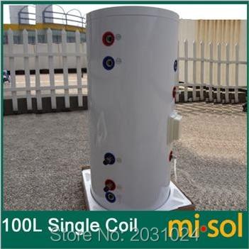 100 litre chauffe-eau solaire réservoir 220 V, avec bobine de cuivre, avec élément électrique, réservoir d'eau solaire