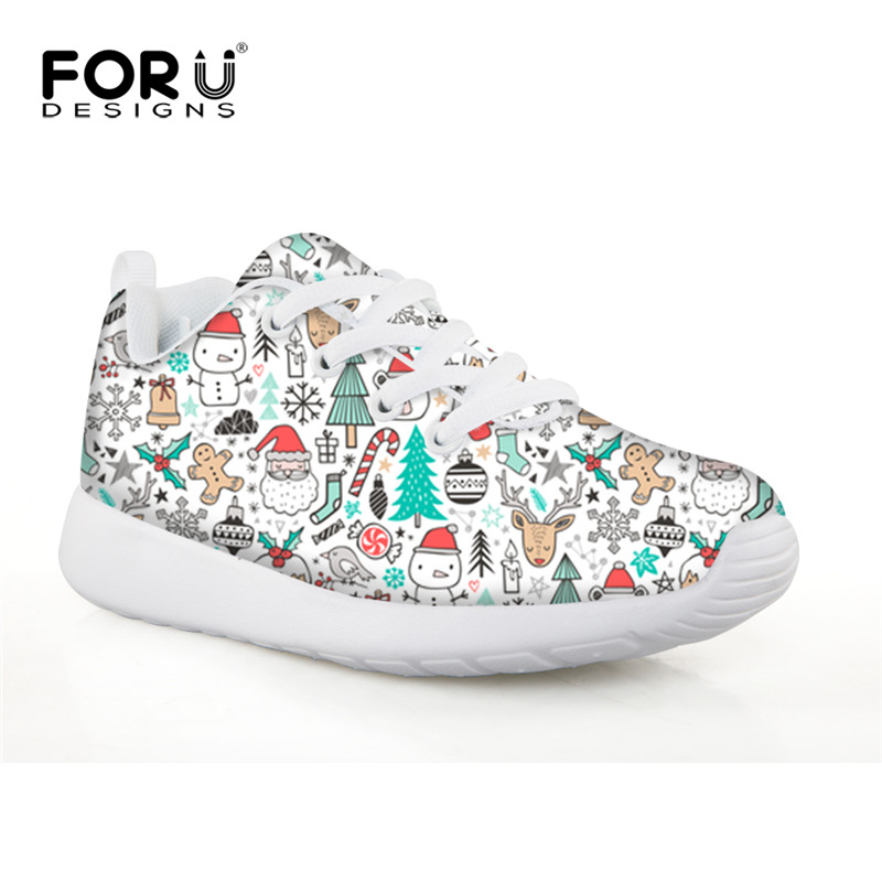 Christmas Sneakers.Us 25 29 45 Off Forudesigns Childrens Shoes Merry Christmas Football Shoes Kids Girls Boys Sport Sneakers Best Gift Running Shoes Footwear 2018 In