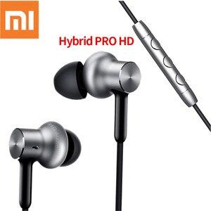 Image 1 - Наушники Xiaomi Hybrid Pro HD с шумоподавлением, наушники вкладыши Xiaomi Mi, проводное управление, смартфон с микрофоном Pro HD, оригинал