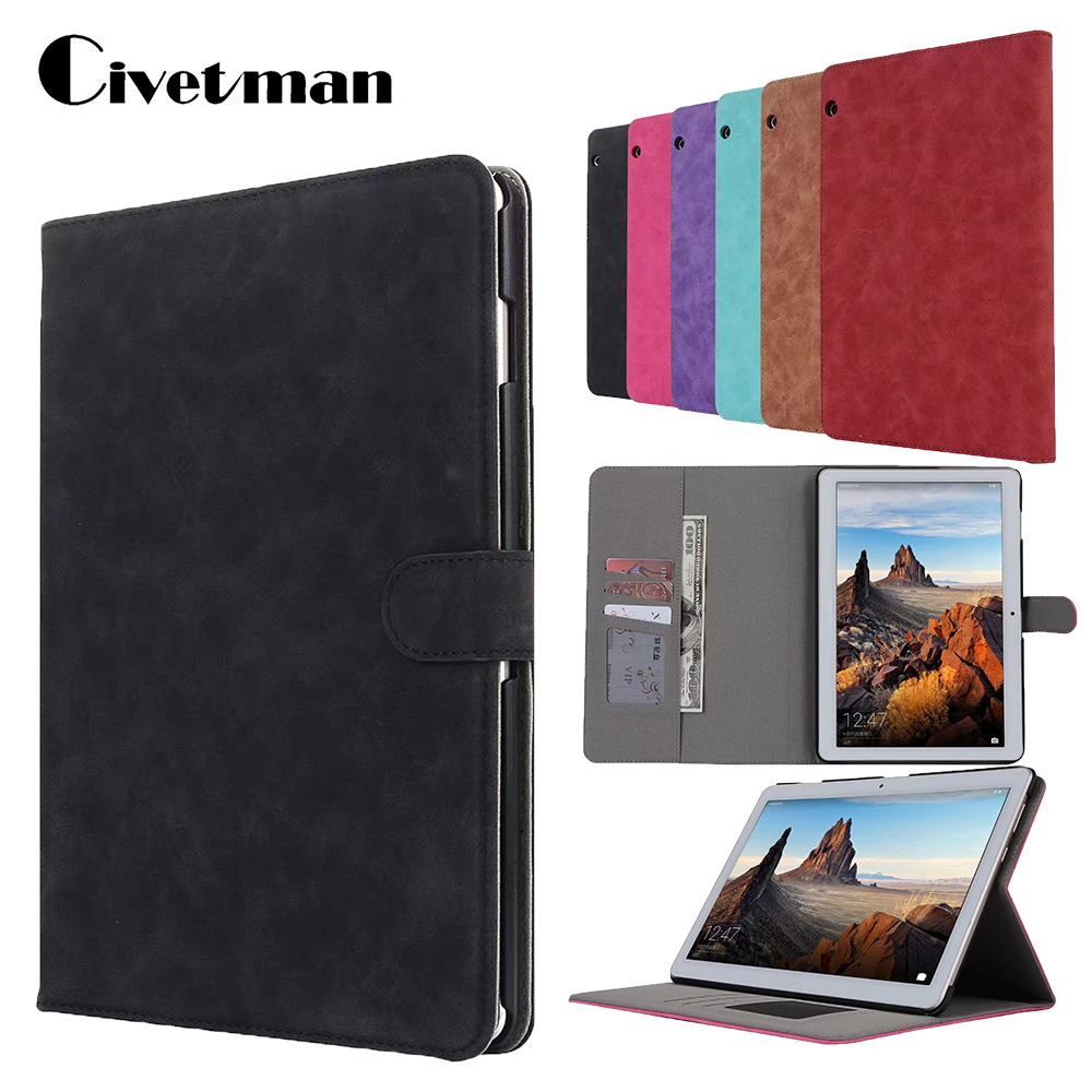 For Huawei MediaPad T3 10 AGS-L09 AGS-L03 Silk Grain PU Leather Tablet Case cover For Huawei T3 10 9.6 tablet cover cover case for huawei mediapad m3 youth lite 8 cpn w09 cpn al00 8 tablet protective cover skin free stylus free film