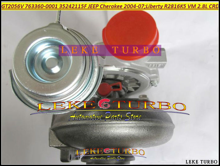Turbo <font><b>GT2056V</b></font> 763360-0001 763360 763360-5001S 35242115F 35242112G For Jeep Cherokee 2004-07 Liberty 2004 R2816K5 VM 2.8L CRD image