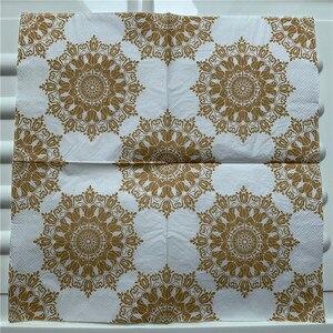 Image 4 - 20 Vintage Khăn Ăn giấy sang trọng mô khăn tay đỏ vàng xanh lá hoa tím decoupage servilletas tiệc cưới trang trí nhà