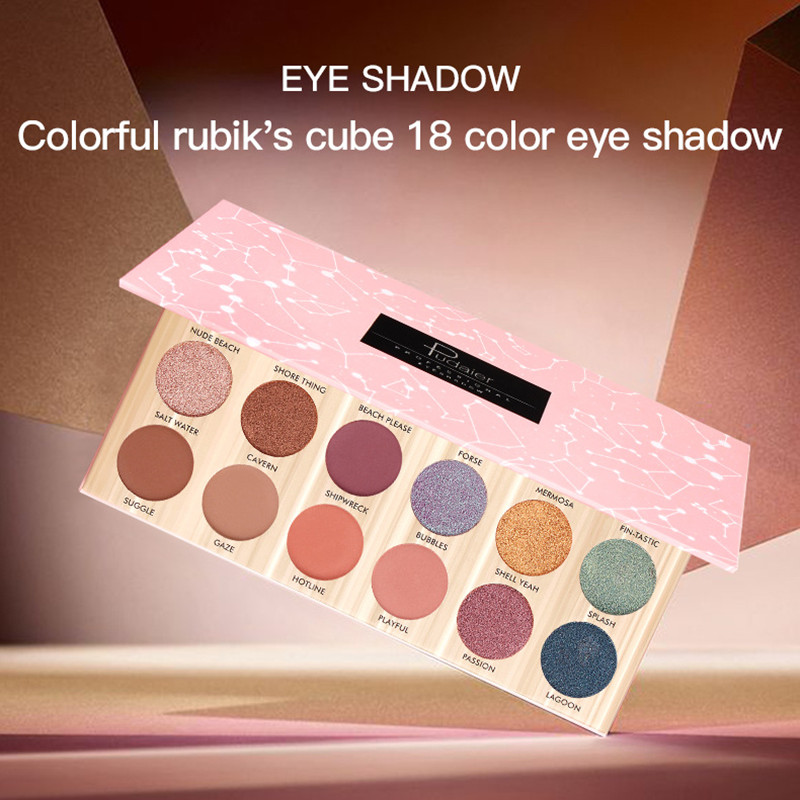Explosion Fashion Lady Eye Makeup Pan 18 Color Eyeshadow Palette Waterproof Not Stained Matte Shadow Hot Sale