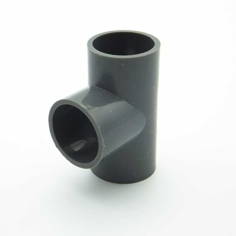 20 millimetri ID Equal Tee Tubo IN PVC Comune Tubo di Raccordo Adattatore del Connettore di Acqua Per Il Sistema di Irrigazione del Giardino FAI DA TE