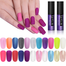 LILYCUTE Matte Look UV Gel Polish Soak Off Glitter Pearl Manicure Varnish Nail Art Decoration