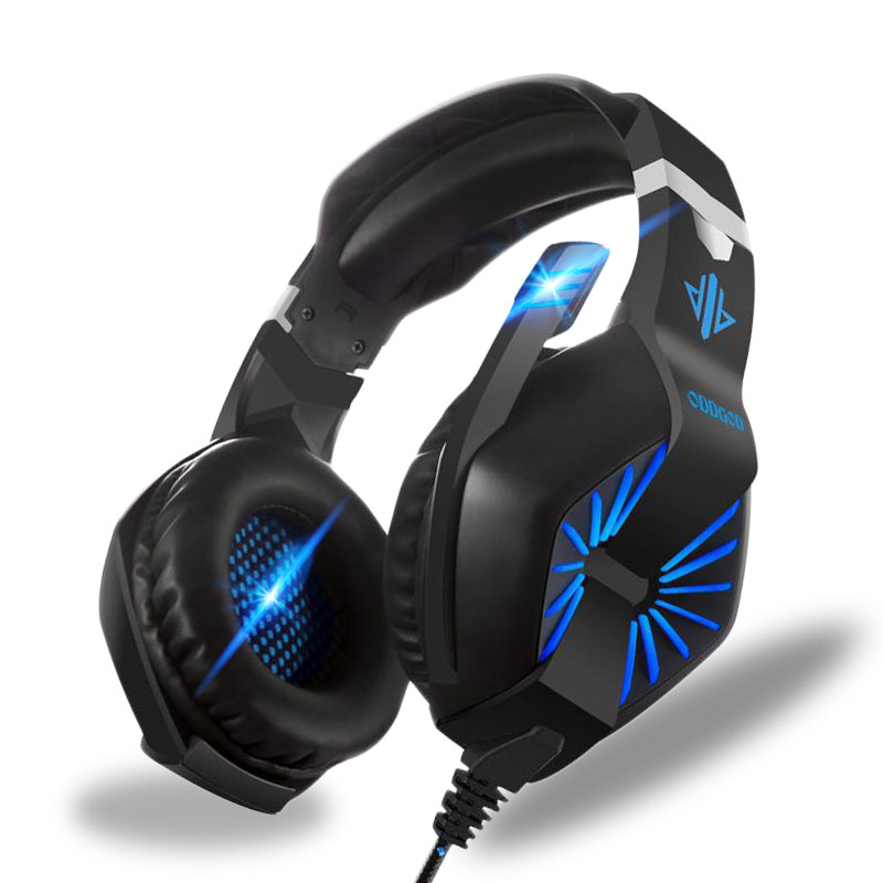 Gaming Headphones for Computer Stereo Over-Ear Gaming Headset Deep Bass Headband Earphone with Light for Computer PC Gamer teamyo n2 computer stereo gaming headphones earphones for mobile phone ps4 xbox pc gamer headphone with mic headset earbuds