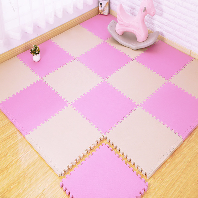 30*30cm Baby EVA Foam Puzzle Play Mat Kids Rugs Toys Carpet Child Safety Kids Room for Crawling Play Toys 9-Colour