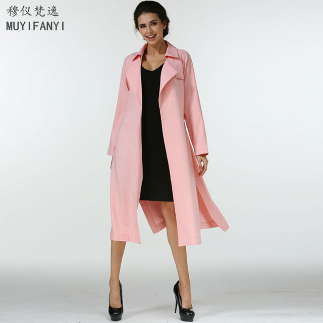 Herbst mantel damen rosa