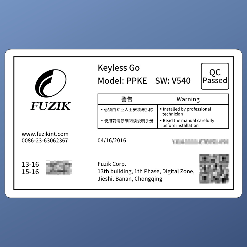 US $259 2 19% OFF Fuzik Keyless Go Smart Key Keyless Entry Remote start  Push Botton for AUDI Q3 A3-in Tire Pressure Alarm from Automobiles &