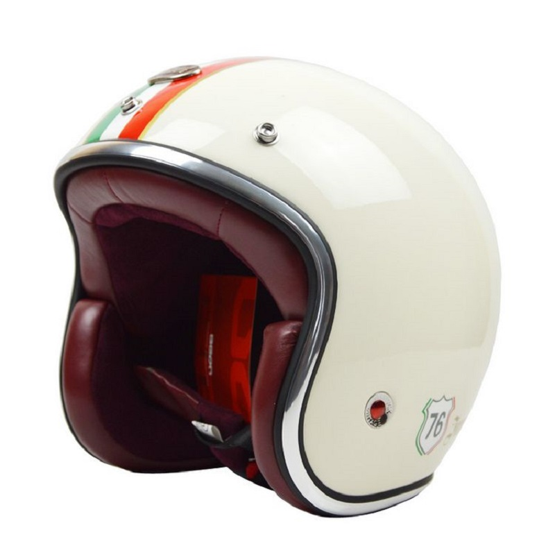 Scooter abrir rosto capacete BEON motocicleta motorbike motorcross capacete do vintage retro 3/4 cascos de Fibra de vidro capacete ECE aprovado
