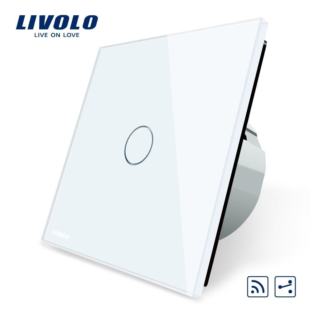 Livolo Standard de L'UE Commutateur Sans Fil 1 Gang 2 Voies, avec Télécommande Fonction, VL-C701SR-1/2/5