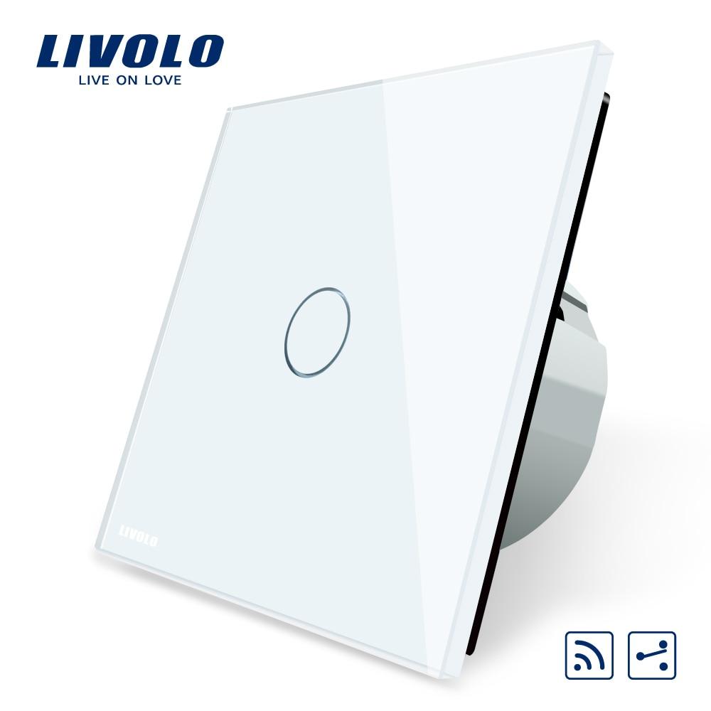 Livolo EU Standard commutateur sans fil 1 Gang 2 voies, avec fonction à distance, VL-C701SR-1/2/5