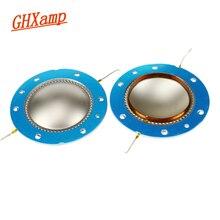 GHXAMP 51mm głośnik wysokotonowy cewka drgająca folia z tytanu 8 Ohm głośnik naprawa części miedzi okrągłe WireFor PV 22xt 22 t 22a 2 sztuk