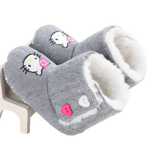 Female Baby Warm Shoes Baby Snow Boots Toddler Shoes Cotton Slippers Winter Slippers 2016 New Winter Child Warm Shoes WMC207