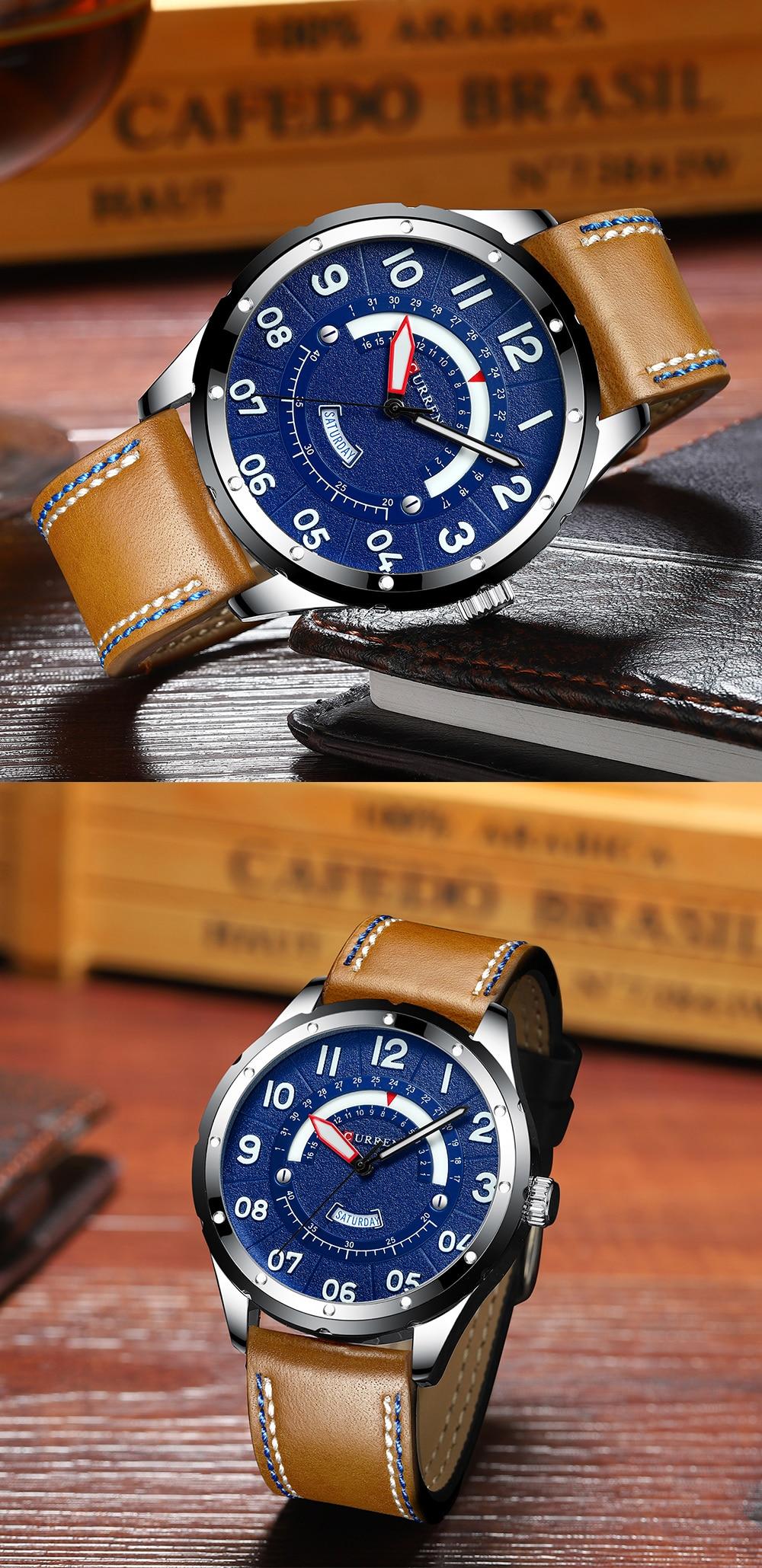 HTB1DRdsarr1gK0jSZFDq6z9yVXav CURREN Date Mens Watches Luxury Sport Watch